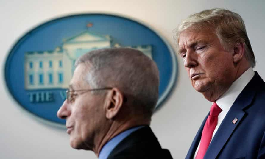 'Trump … apparently listens to theories cooked up by his uniquely unqualified son-in-law and fears being upstaged by Anthony Fauci.'