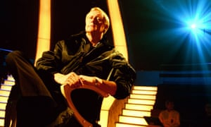 Chris Tarrant in the Who Wants to Be a Millionaire? TV studio.
