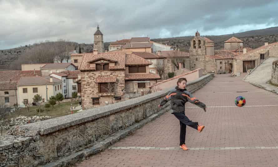 The village of Selas near Molina de Aragon, Spain