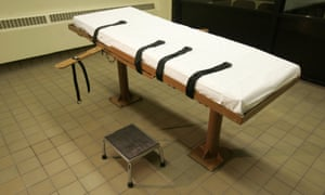 The death chamber at the Southern Ohio Correctional Facility in Lucasville, Ohio.