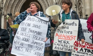 Campaigners against the work capability assessments