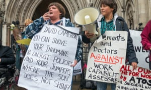 Protests in London against work capability assessments