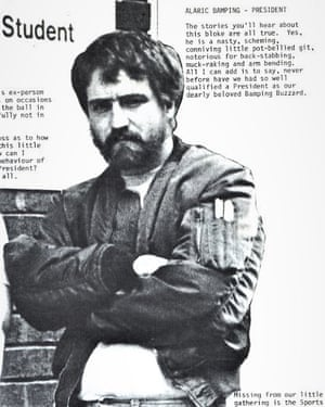 Alaric Bamping as president of the PCL union, 1982-83.