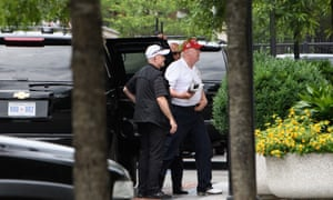 Donald Trump returns to the White House in Washington DC on Sunday after a trip to his golf club in Virginia.