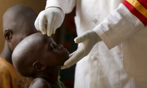 A child rescued from Boko Haram at a clinic in Yola, Nigeria