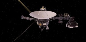 An artist's concept depicts one of Nasa's Voyager spacecraft