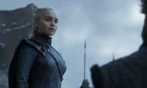 Emilia Clarke in the final episode of Game of Thrones.