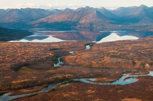 Walker Lake and Kobuk River in Gates of the Arctic National Park & Preserve, Alaska
