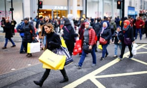 Shoppers on London's Oxford Street during the Boxing Day sales