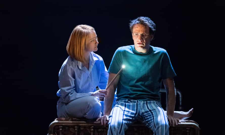 Poppy Miller as Ginny Potter and Jamie Parker as Harry Potter in Harry Potter And The Cursed Child at the Palace Theatre, London