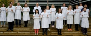 …now you don't. Newcastle University cancer researchers without their European colleagues.