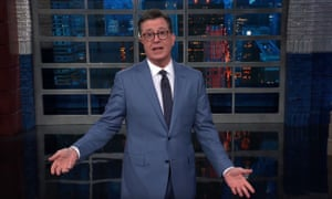 'Thank you for your crazed cheering. For just one moment there, I felt like I was launching my presidential campaign' ... Stephen Colbert.