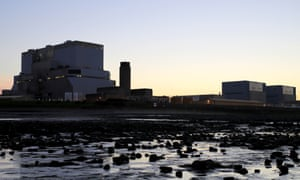 Hinkley Point B and Hinkley Point A nuclear power stations in Somerset.