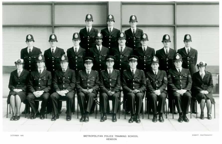 Leroy Logan at Metropolitan police training school in Hendon, north London, in 1983.