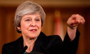 Theresa May at a No 10 press conference on 15 November