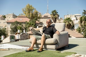 Koko Deri on his rooftop in Musrara