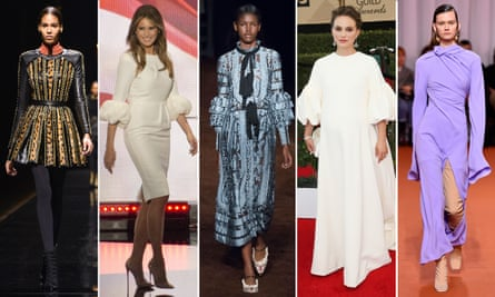Sleeves are having a moment. But here's the weird part: sleeves have been having a moment for five years.From left: Balmain in 2014, Melania Trump in Roksanda in 2016, Erdem in 2016, Natalie Portman in 2017, Ellery in 2018.