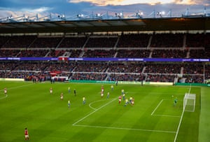 Stewart Downing scores with a shot from outside the box to light up the Riverside stadium.