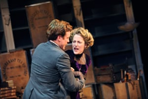 Toby Stephens as Thomas and Anderson as Nora in Ibsen's A Doll's House at Donmar Warehouse, London, in 2009. Zinnie Harris's production relocated the drama to 1909 London.