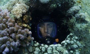 Philippe Cousteau in the urchin garage, part of Jacques Cousteau's Conshelf II underwater experiment in Sudan