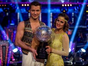 Caroline Flack with her dance partner Pasha Kovalev.