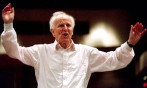 David Willcocks conducting