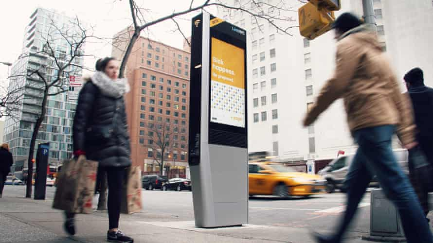 Sidewalk Labs has created city kiosks that offers public transit information, mobile device charging and free WiFi.