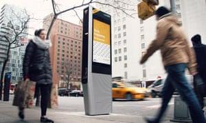 A LinkNYC kiosk in New York.