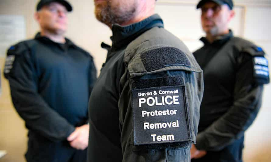 Devon and Cornwall police at their Exeter HQ, where they are preparing for the 11-13 June summit.