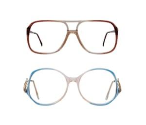 Peep Eyewear Bean and Stella frames, both £48, peepeyewear.co.uk