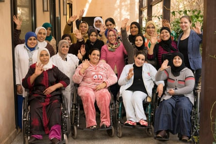 People from Alnour, a disabled women's cooperative in Marrakech, Morocco.