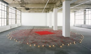 Undercurrent (red), 2008, by Mona Hatoum