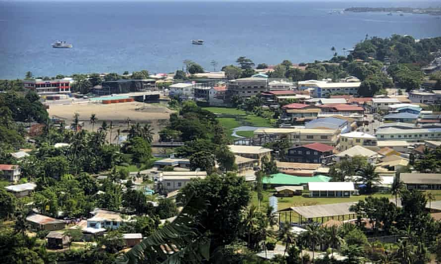 Honiara, the capital of Solomon Islands. Neighbouring island Malaita is threatening to break away from the country, largely over. Honiara's recognition Beijing over Taipei.