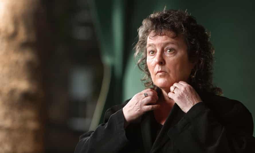 Getting her coat … current UK poet laureate Carol Ann Duffy.