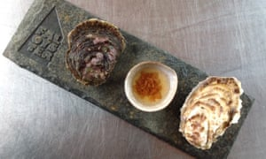 A Fal oyster (left) alongside a Porthilly oyster. Fal Oyster Ltd can now claim EU protected designation of origin status