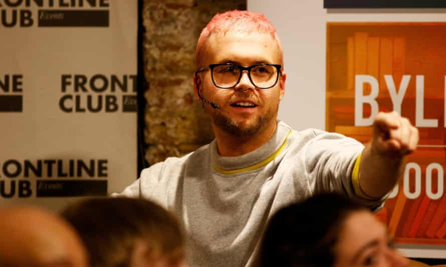 Christopher Wylie at the Frontline Club in London on Tuesday 20 March