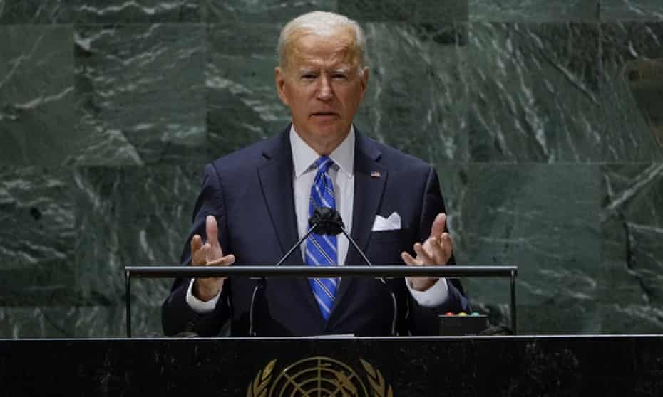 Joe Biden at the UN in New York on 21 September.