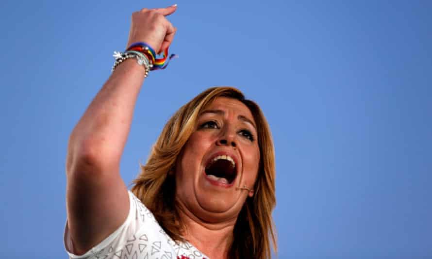 Susana Díaz, the PSOE leader in Andalucía