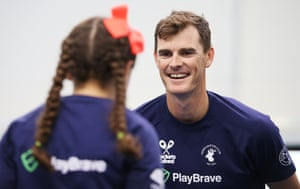 Jamie Murray takes part in a Rackets Cubed event, the tennis player wants more investment in order to attract people to the game.