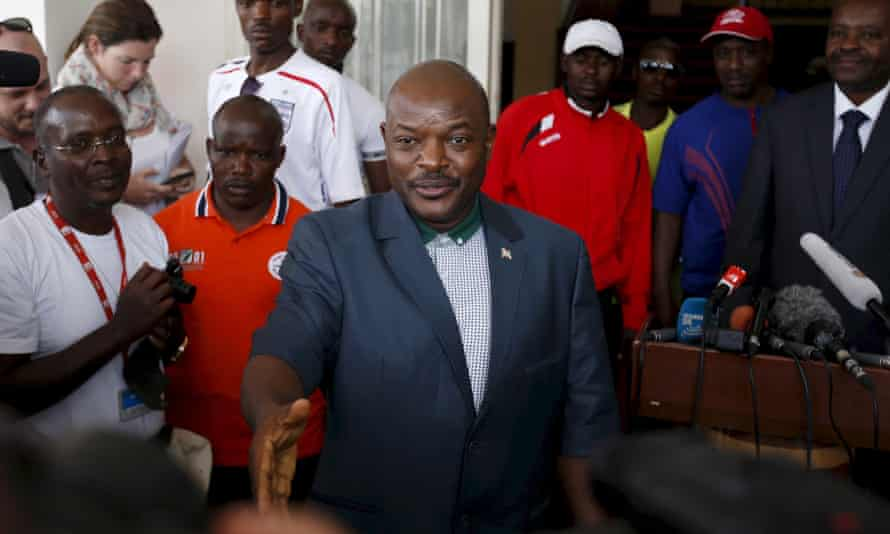 Burundi's President Nkurunziza in Bujumbura.