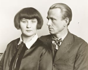 Otto Dix and his wife Martha, photograph by August Sander, 1925-6, from Portraying a Nation: Germany 1919–1933, Tate Liverpool, 23 June-15 October 2017.