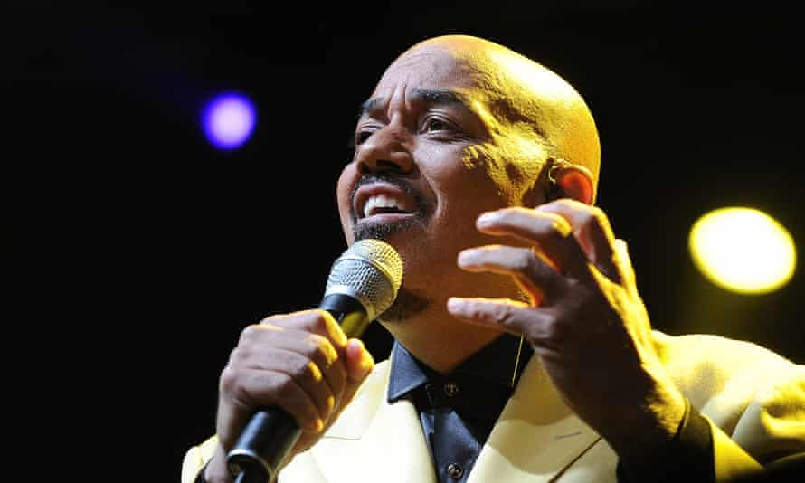 James Ingram performing at the Cape Town international jazz festival, in South Africa, 2012.
