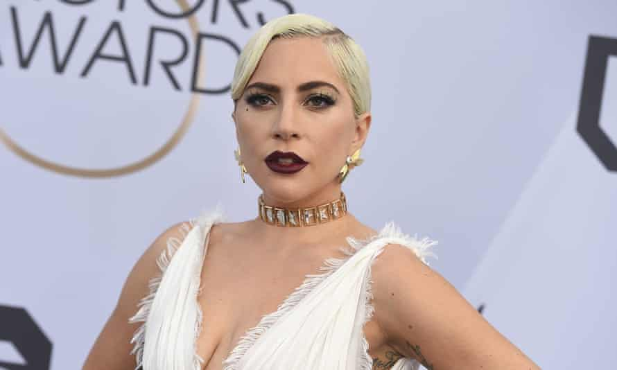 Lady Gaga at the Screen Actors Guild awards in Los Angeles on 27 January 2019.