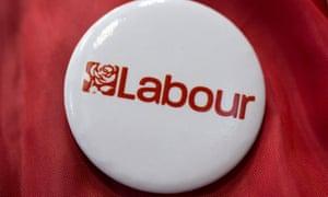 A Labour party badge.