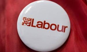 A Labour party badge