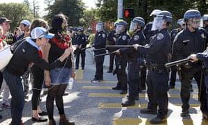 University of California, Santa Cruz students participate in a wildcat strike demanding higher pay.