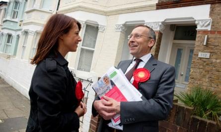 Gloria de Piero and Hammersmith's MP, Andy Slaughter