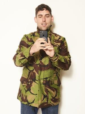 James Galliford, 35, Art HandlerCamouflage jacket, £169