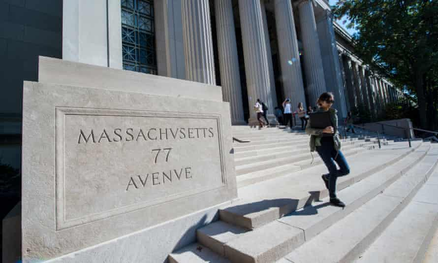 The main entrance to the Massachusetts Institute of Technology.