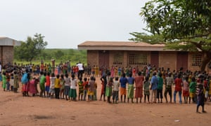 Children at a school in the Bossangoa region in Central African Republic.